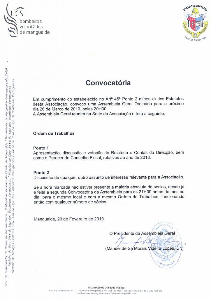 Assembleia Geral @ BV Mangualde | Mangualde | Portugal